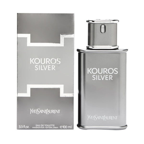 Kouros Silver by Yves Saint Laurent for Men 3.3 oz Eau de Toilette Spray