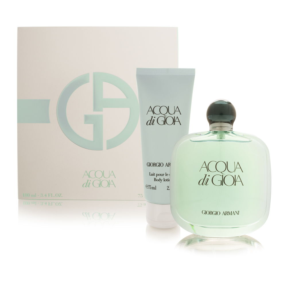 Acqua di Gioia by Giorgio Armani for Women 2 Piece Set Includes: 3.4 oz Eau de Parfum Spray + 2.5 oz Body Lotion