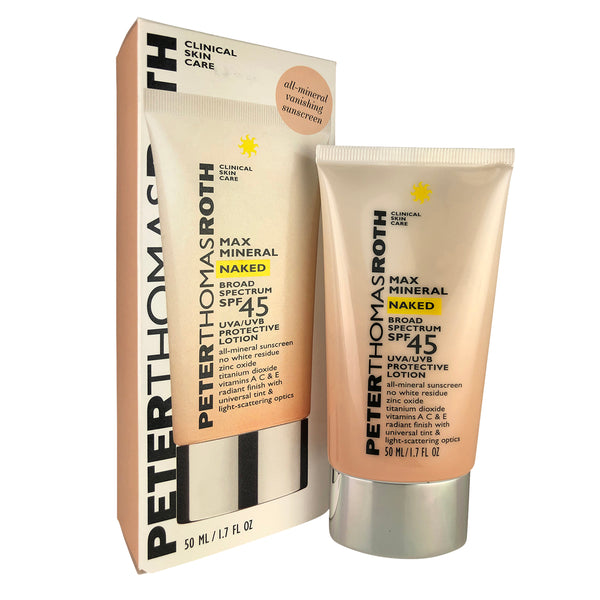 Peter Thomas Roth Max Mineral Naked Broad Spectrum SPF 45 UVA/UVB Face Protective Lotion 1.7 oz
