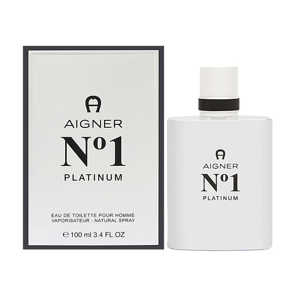 Aigner No. 1 Platinum Pour Homme by Etienne Aigner 3.4 oz Eau de Toilette Spray