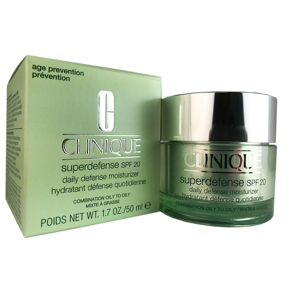 Clinique Superdefense Daily Moisturizer SPF 20 1.7 oz Combination to Oily Skin