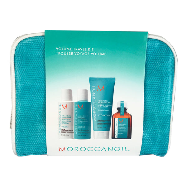 Moroccanoil 5 Piece Volume Travel Kit Extra Volume Shampoo& Conditioner+Mask+Moroccan Oil Treatment