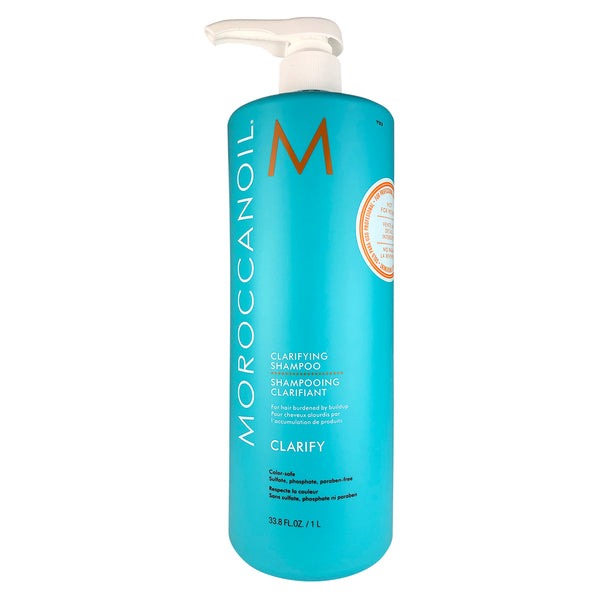 MOROCCANOIL Clarifying Shampoo for Hair Burdened by Buildup 33.8 oz Liter Color-Safe, Sulfate,Phosphate, Paraben Free