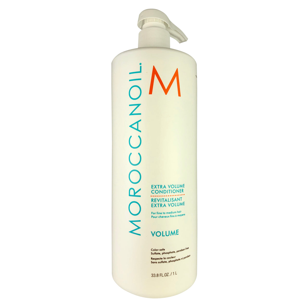 MOROCCANOIL Extra Volume Conditioner Liter 33.8 oz each For Fine to Medium Hair Color-Safe Parabens Sulfate & Phosphate Free