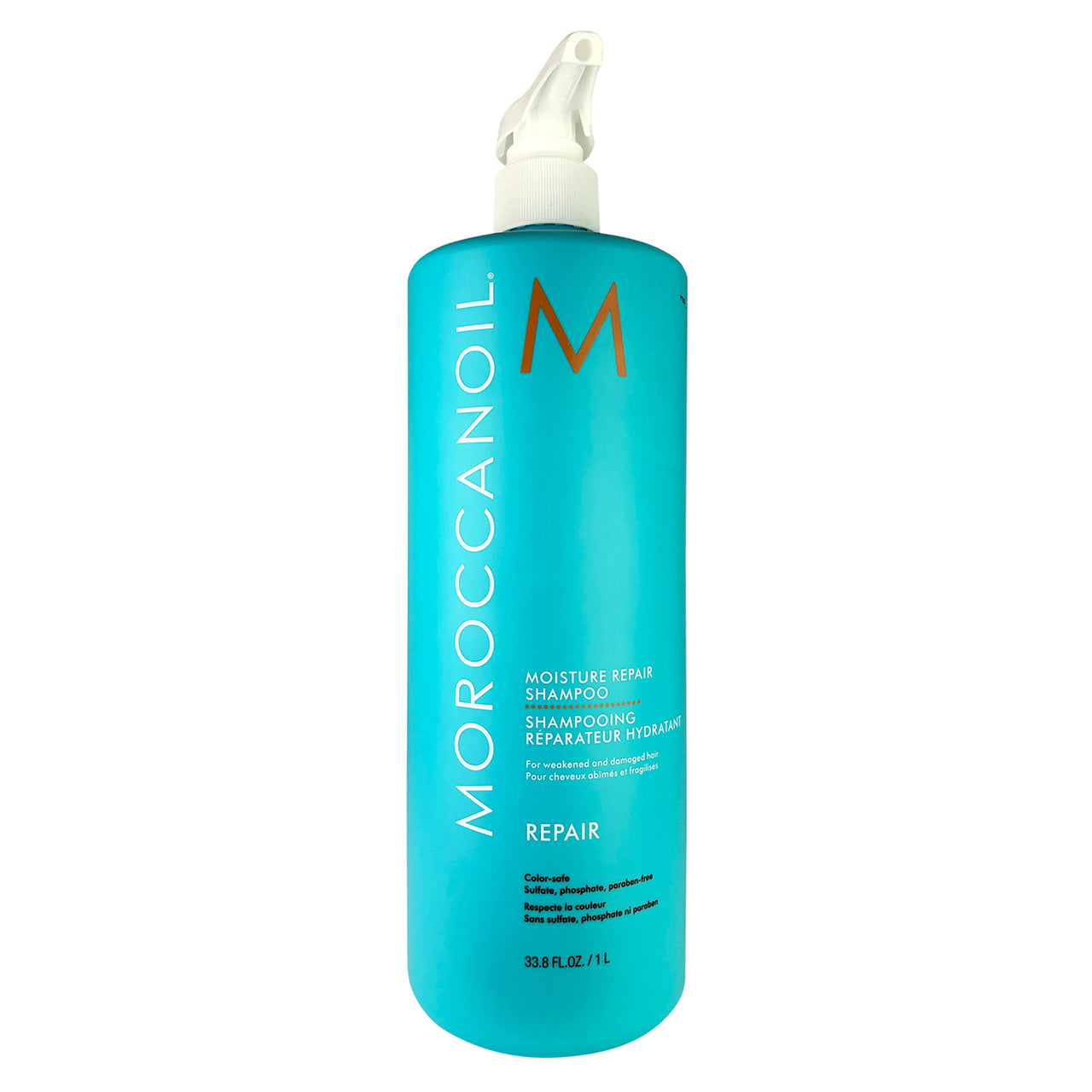 MOROCCANOIL Moisture Repair Liter 33.8 oz For Weakened and Damaged Hair Color-Safe Parabens Sulfate & Phosphate Free