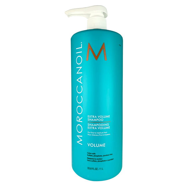 MOROCCANOIL Extra Volume Shampoo Liter 33.8 oz For Fine to Medium Hair Color-Safe Parabens Sulfate & Phosphate Free