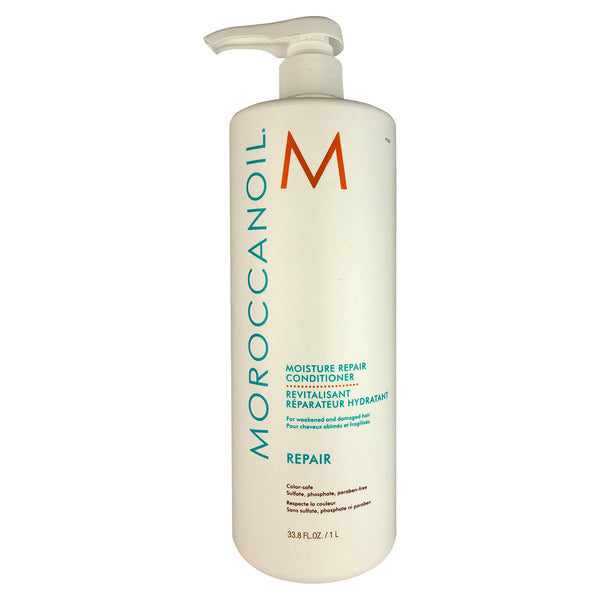 MOROCCANOIL Moisture Repair Conditioner Liter 33.8 oz For Weakened and Damaged Hair Color-Safe Parabens Sulfate & Phosphate Free