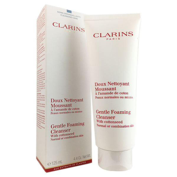 Clarins Foaming Cleanser with Cottonseed Normal to Combination Skin 125 ml 4.2 oz