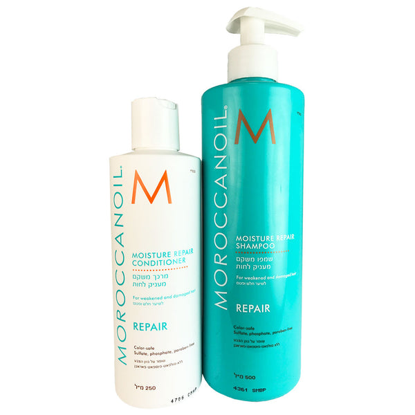 Moroccanoil Moisture Repair Hair Shampoo 16.9 oz & Conditioner 8.5 oz Duo