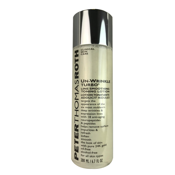 Peter Thomas Roth Un-Wrinkle Turbo Line Smoothing Toning Face Lotion 6.7 oz