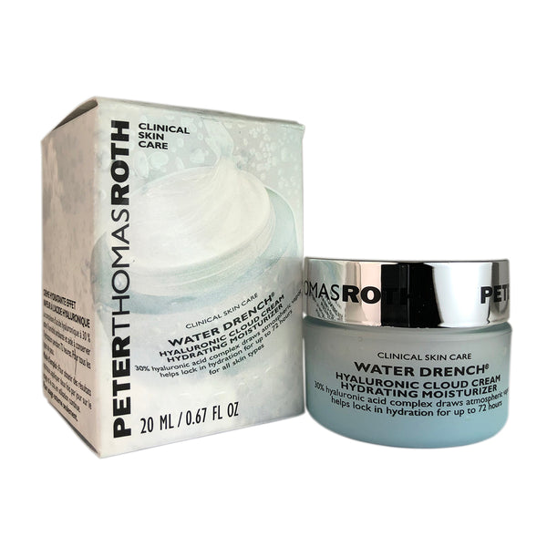 Peter Thomas Roth Water Drench Hyaluronic Cloud Cream Hydrating Face Moisturizer 0.67 oz For All Skin Types