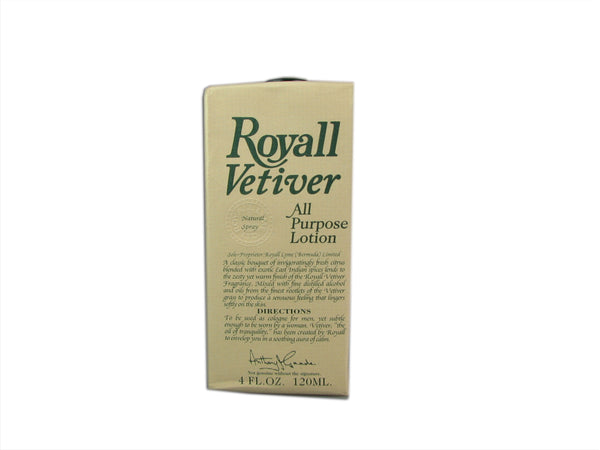 Royall Vetiver For Men by Royall Fragrances 4 oz All Purpose Lotion