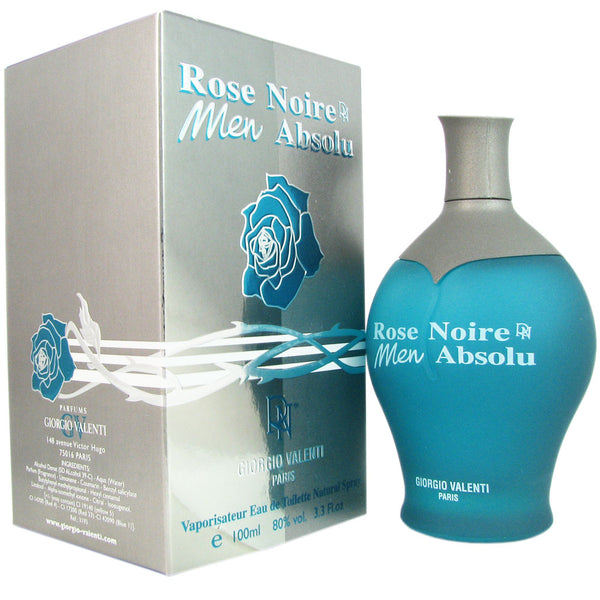 Rose Noire Absolue for Men by Giorgio Valenti 3.4 oz Eau de Toilette Spray