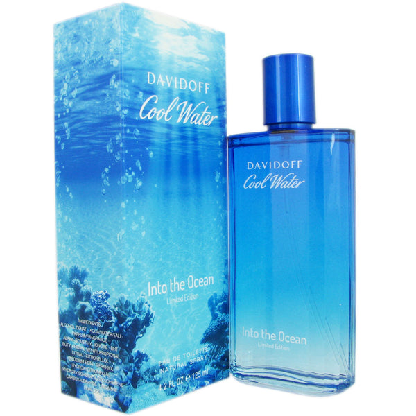 Davidoff Cool Water Into The Ocean Eau De Toilette Spray for Men 4.2 oz