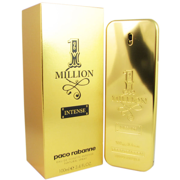 1 Million Intense for Men by Paco Rabanne 3.4 oz Eau de Toilette Spray Tester Unboxed