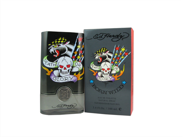 Ed Hardy Born Wild Eau De Toilette Spray 3.4 oz For Men 100% authentic perfect as a gift or just everyday use