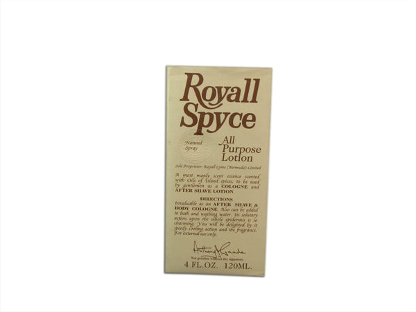 Royall Spyce by Royall Fragrances 4 oz All Purpose Lotion
