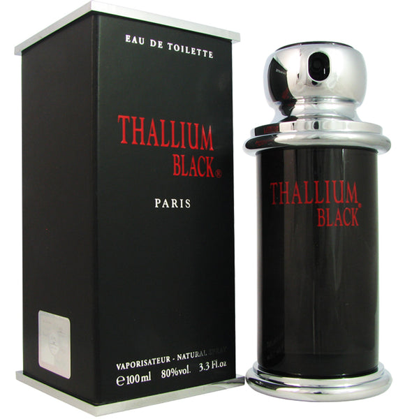 Thallium Black Men by Yves De Sistelle 3.4 oz Eau de Toilette Spray