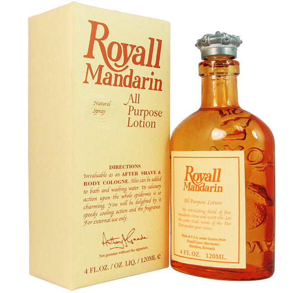 Royall Mandarin for Men by Royall Fragrances 4 oz All Purpose Lotion
