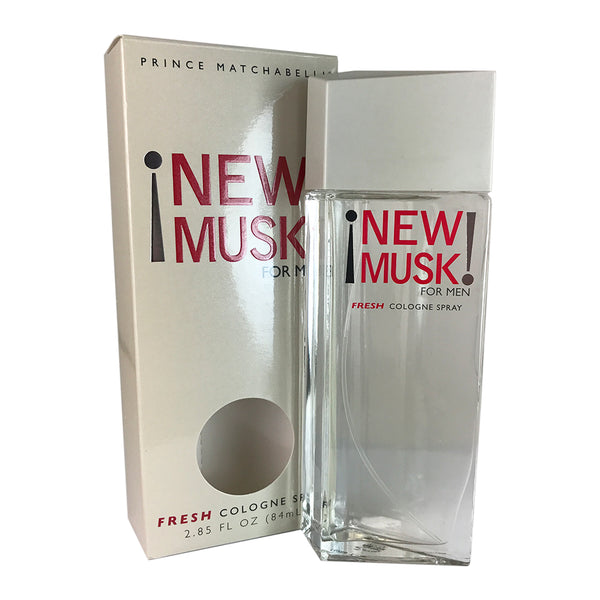 Matchabelli New Musk For Men Fresh Cologne Spray 2.85 oz