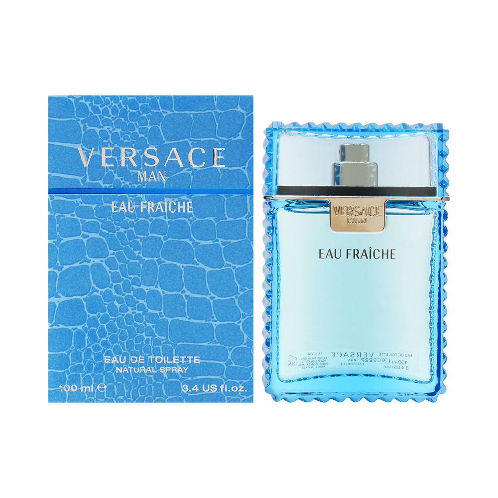 Versace Man Eau Fraiche by Versace for Men 3.4 oz Eau de Toilette Spray