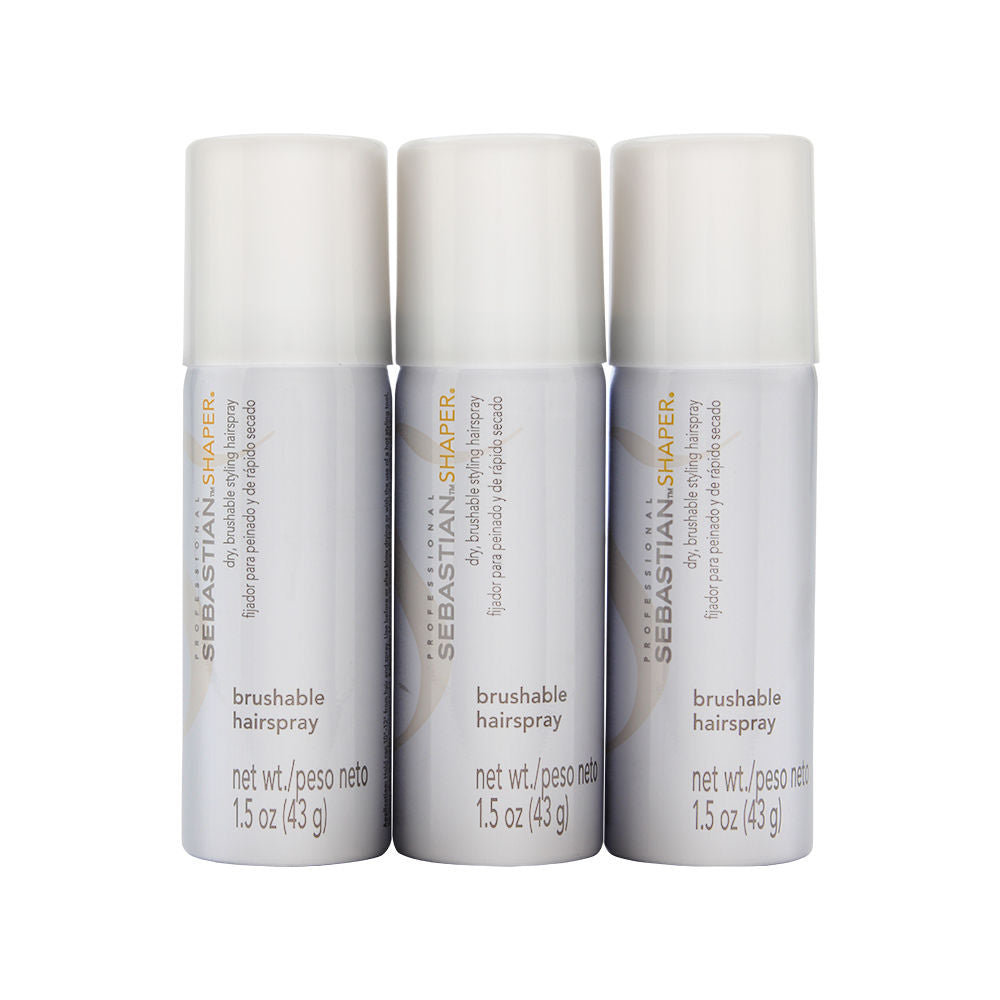 Sebastian Shaper Dry, Brushable Styling Hairspray with Control 3 - Pack 3 x 1.5 oz