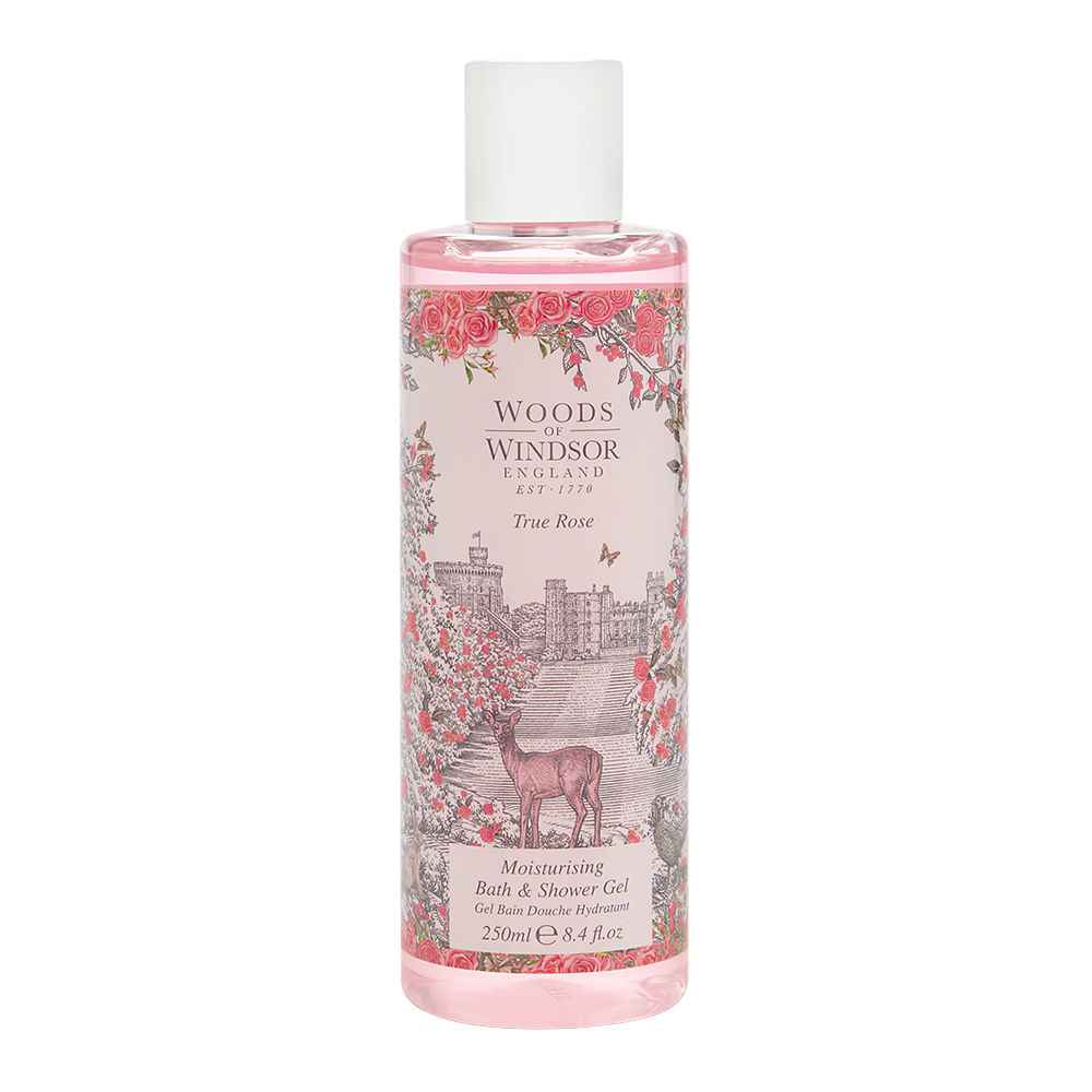 True Rose by Woods of Windsor 8.4 oz Moisturising Bath & Shower Gel