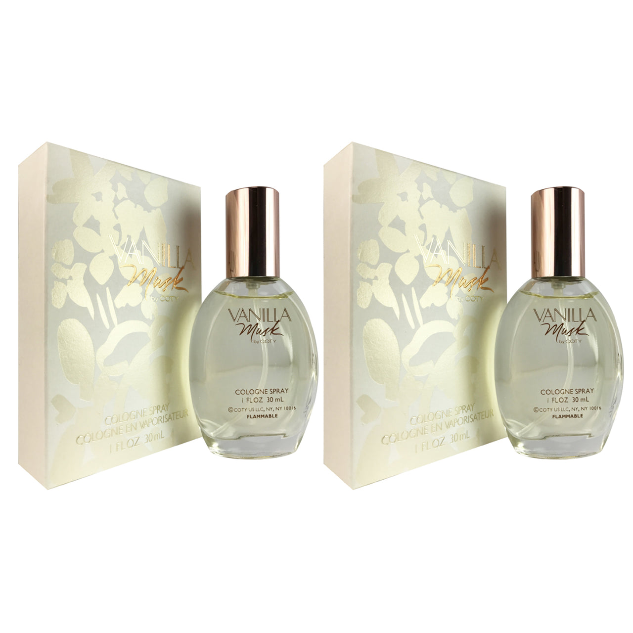 Vanilla Musk Women Coty 1oz Cologne Spr-TWO