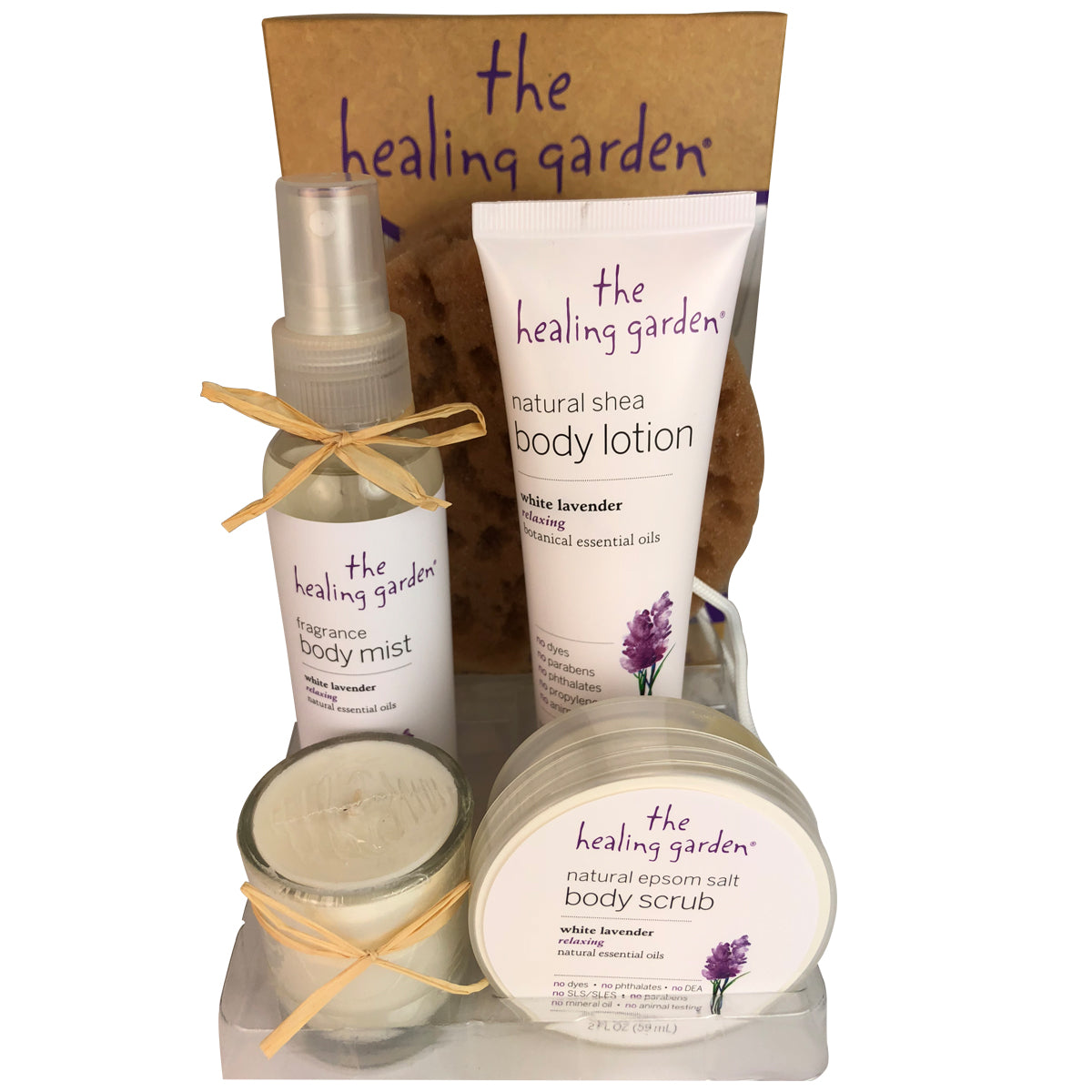 The Healing Garden By Parfums De Couer 4 Piece Gift Set Lotion+Scrub+Mist+Candle