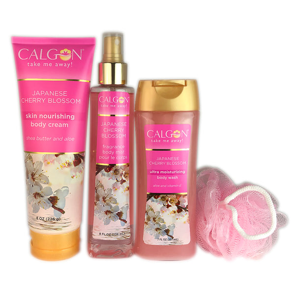Calgon Japanese Cherry Blossom for Women 4 Piece Gift Set
