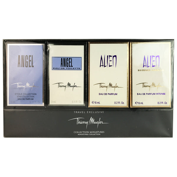 Angel Akien Fragrance For Women By Thierry Mugler Miniature Collection 4 Piece Set