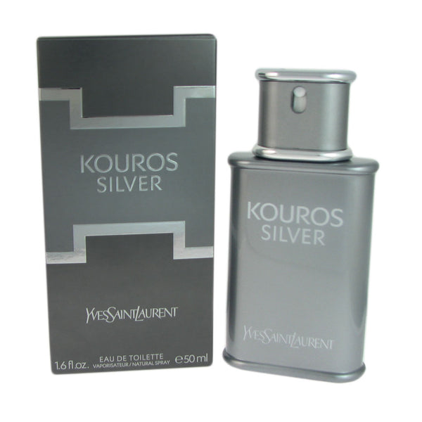 Kouros Silver for Men by Yves Saint Laurent 1.6 oz Eau de Toilette Natural Spray