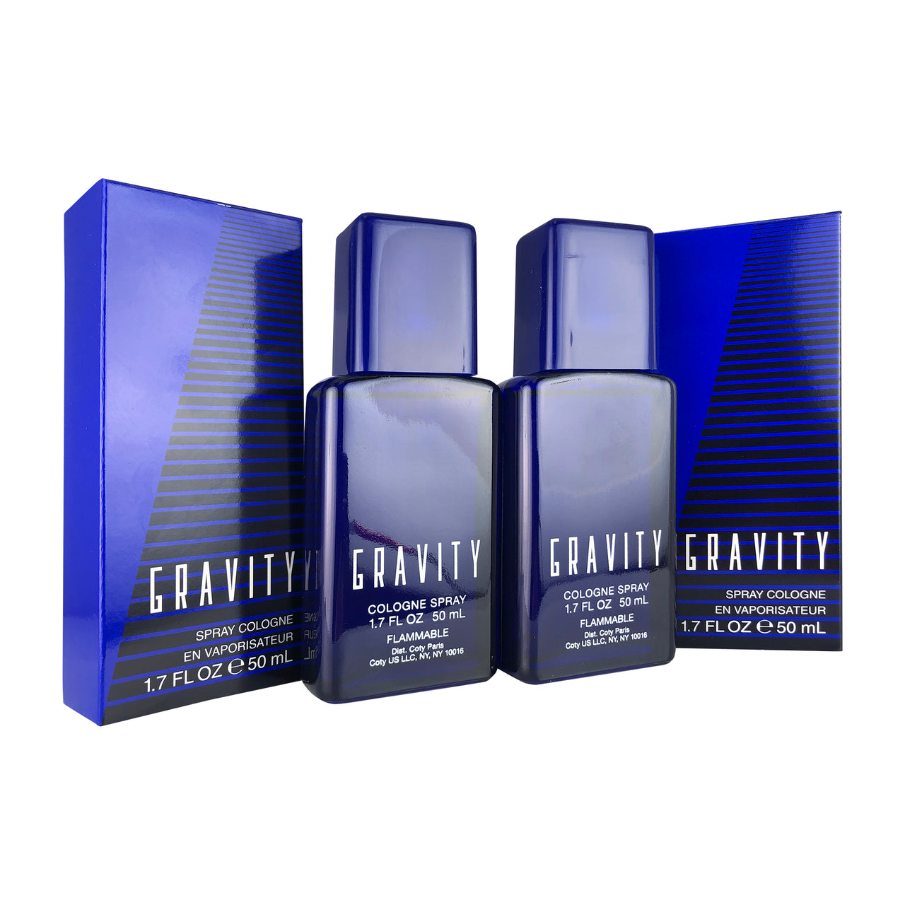 Gravity by Coty 1.7 oz Cologne Spray 2 Pack