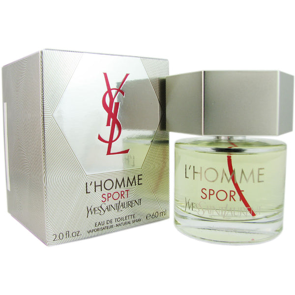L'Homme Sport for Men by Yves Saint Laurent 2.0 oz Eau de Toilette Natural Spray