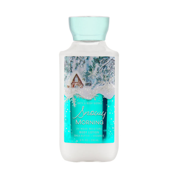 Bath & Body Works Snowy Morning 8.0 oz 24 Hr Moisture Body Lotion