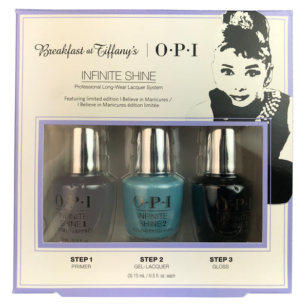 OPI Infinite Shine Breakfast at Tiffany's 3 Piece Nail Lacquer Set