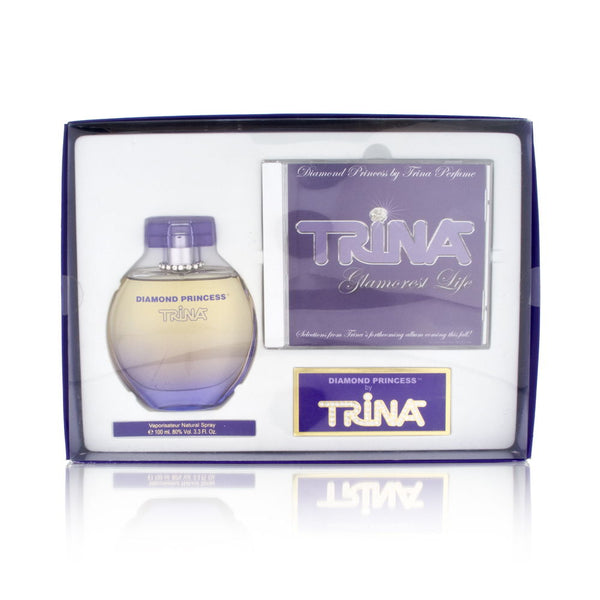 Diamond Princess by Trina for Women 2 Piece Set Includes: 3.3 oz Eau de Toilette Spray + Music CD