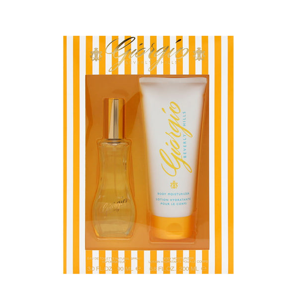 Giorgio Beverly Hills by Giorgio Beverly Hills for Women 2 Piece Set Includes: 3.0 oz Eau de Toilette Spray + 6.8 oz Body Moisturizer