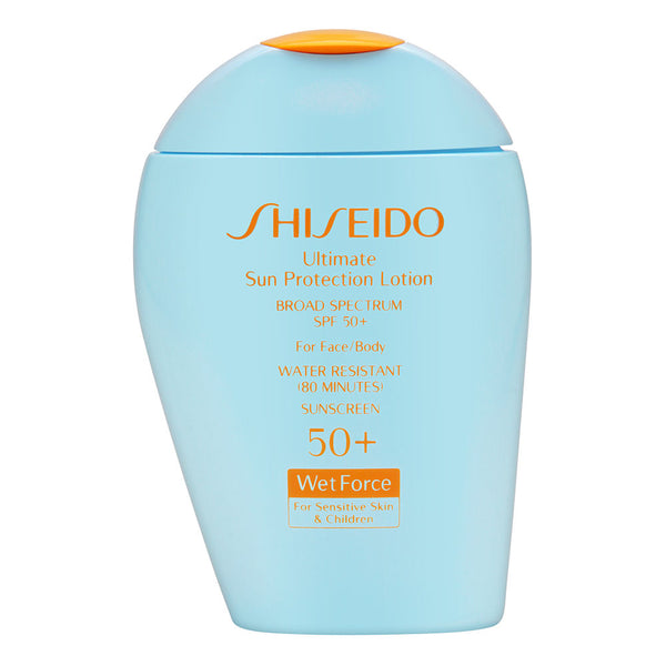 Shiseido Ultimate Sun Protection Lotion SPF 50+ Wetforce for Sensitive Skin & Children 100ml/3.3oz