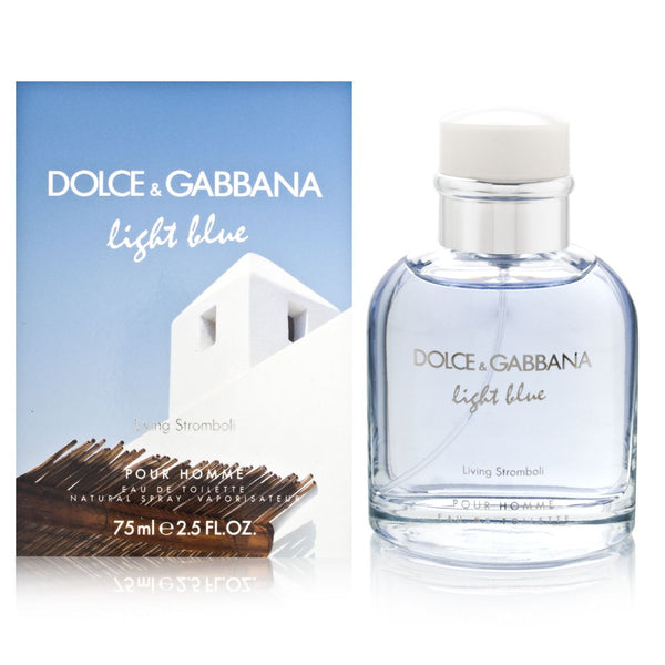 Light Blue Living Stromboli by Dolce & Gabbana for Men 2.5 oz Eau de Toilette Spray