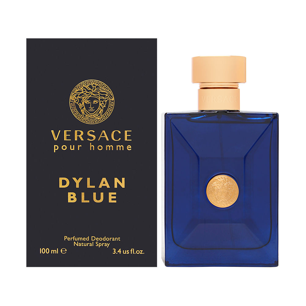 Versace Pour Homme Dylan Blue for Men 3.4 oz Perfumed Deodorant Spray