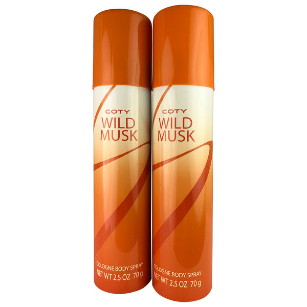 Coty Wild Musk Women Col Body Spr 2.5 oz-TWO