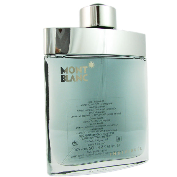 Individuel for Men by Mont Blanc 2.5 oz Eau de Toilette Spray Tester