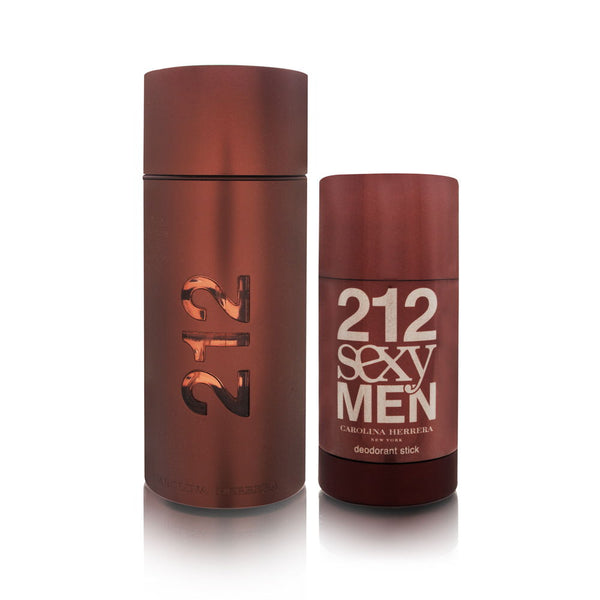 212 Sexy Men by Carolina Herrera 2 Piece Set Includes: 3.4 oz Eau de Toilette Spray + 2.1 oz Deodorant Stick