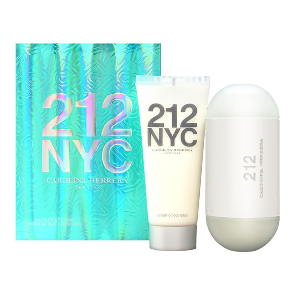 212 by Carolina Herrera for Women 2 Piece Set Includes: 3.4 oz Eau de Toilette Spray + 3.4 oz Hydrating Body Lotion