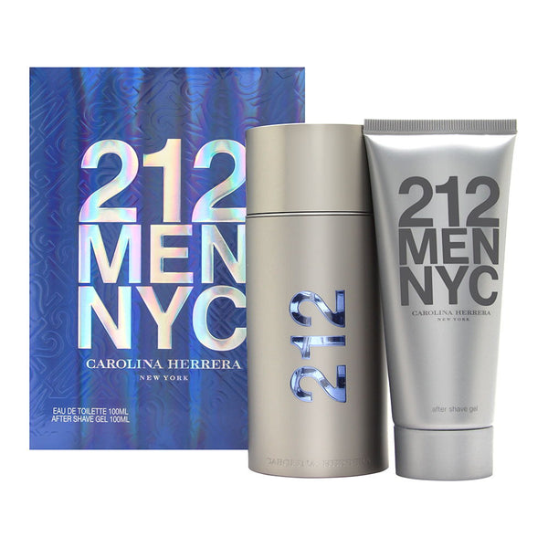 212 Men by Carolina Herrera 2 Piece Set Includes: 3.4 oz Eau de Toilette Spray + 3.4 oz After Shave Gel