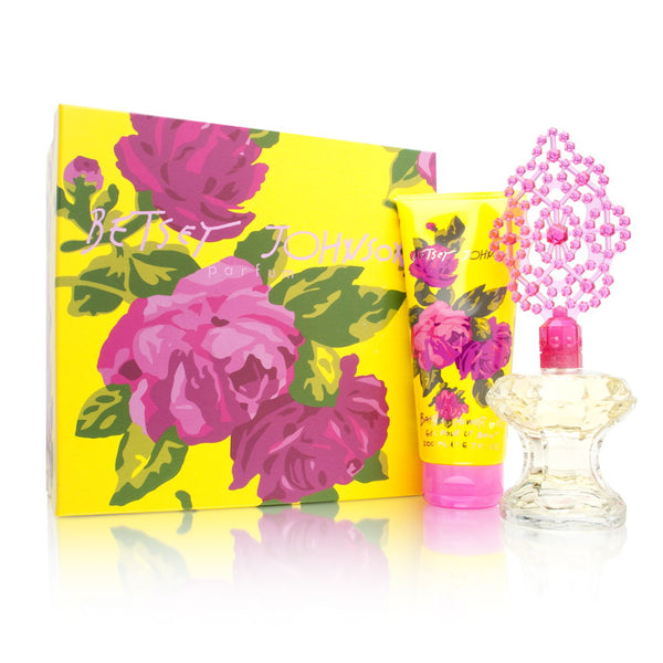 Betsey Johnson for Women 2 Piece Set Includes: 3.4 oz Eau de Parfum Spray + 6.7 oz Bath & Shower Gel