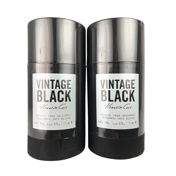 Vintage Black Deodorant Stick for Men by Kenneth Cole 2.6 oz each Alcohol Free TWO