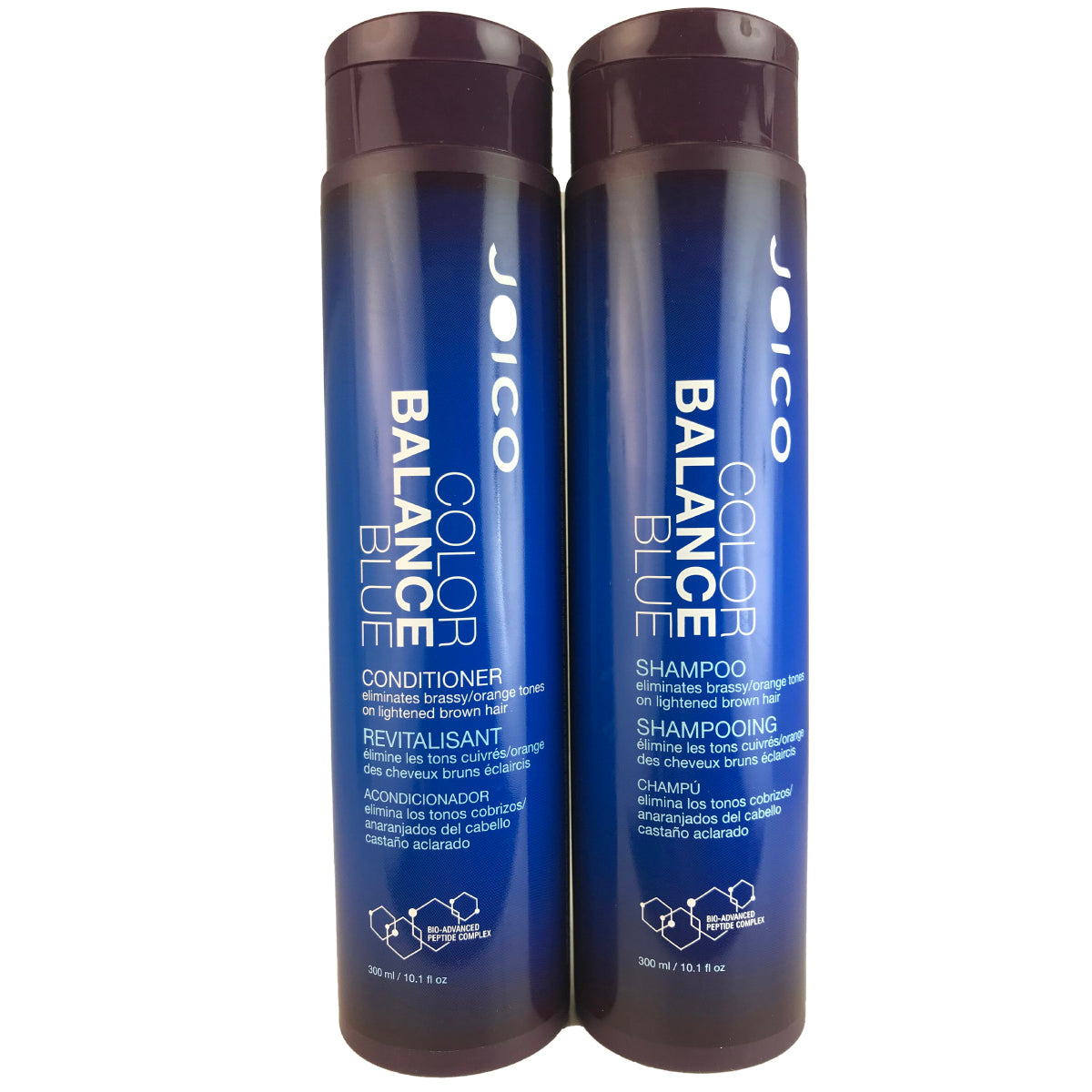JOICO Color Balance Blue Shampoo & Conditioner Duo 10.1 oz each Eliminates Brassy/Orange Tones on lightened Brown Hair