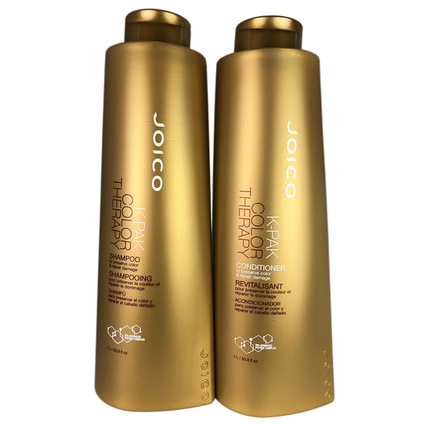 Joico K-Pak Color Therapy Shampoo & Conditioner 33.8 oz Ea. Repairs & Preserves Colored Hair